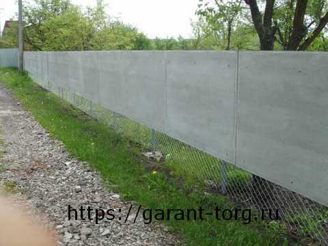 Забор из асбестоцементного листа